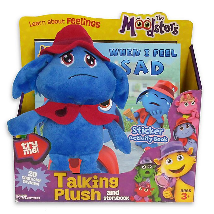 Alternate image 1 for The Moodsters™ Talking Snorf Plush Toy with Activity Book