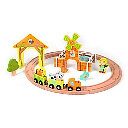 Classic World Wood Farm Train Set