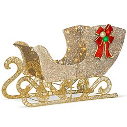 National Tree Company® 38-Inch Santa's Sleigh with White LED Lights
