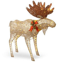 National Tree Company® 48-Inch Moose Decoration with White LED Lights