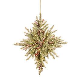National Tree Company® 32-Inch Pre-Lit LED Snowy Dunhill® Fir Bethlehem Star