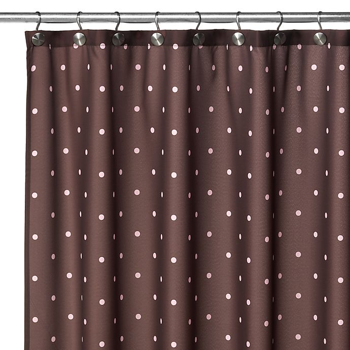 Watershed Single Solution 2 In 1 Polka Dot Fabric Shower Curtain