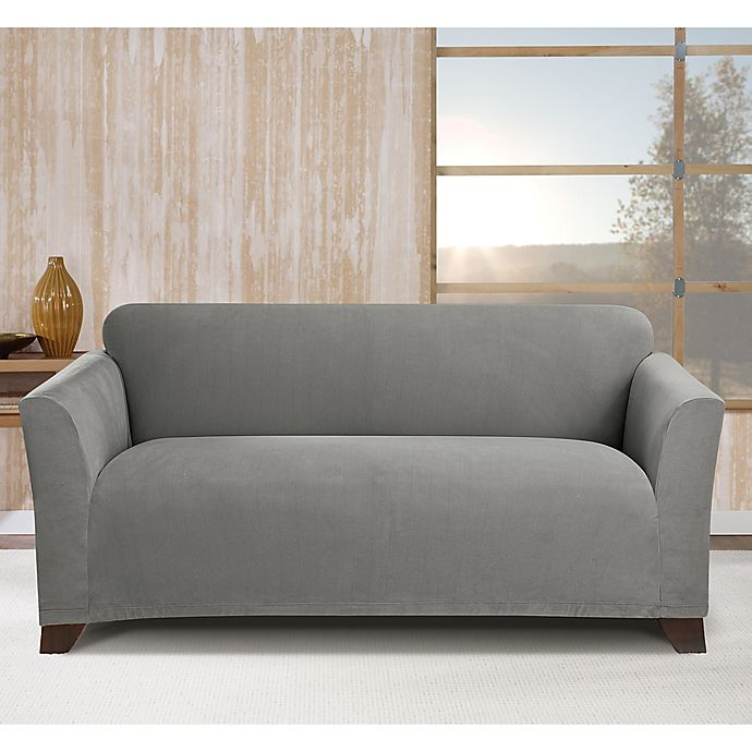 Alternate image 1 for Sure Fit® Stretch Morgan Box Cushion Loveseat Cover
