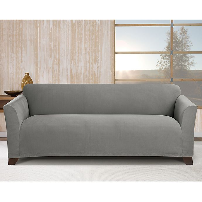 Alternate image 1 for Sure Fit® Stretch Morgan Box Cushion Sofa Cover