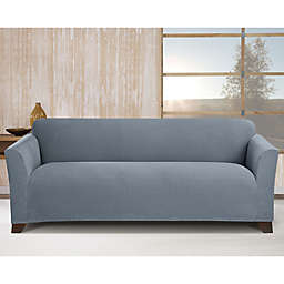 Sure Fit® Stretch Morgan Box Cushion Sofa Cover in Storm Blue