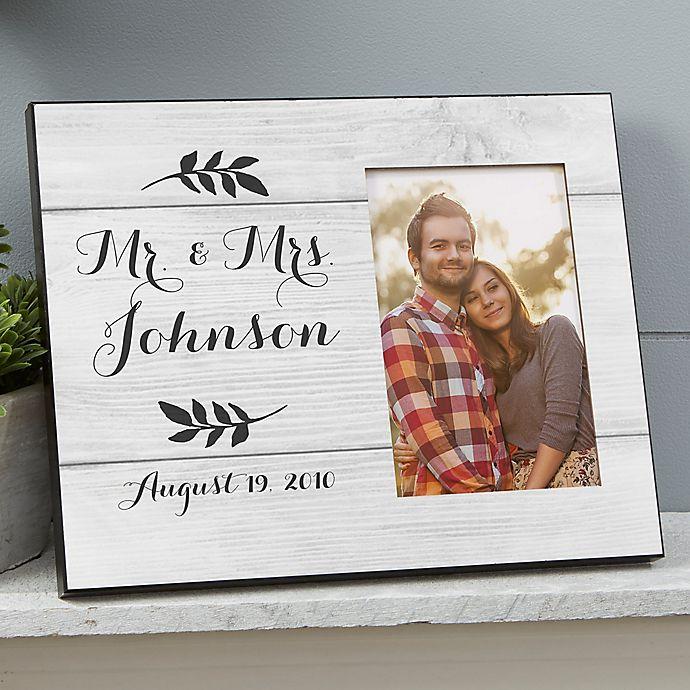 Alternate image 1 for Farmhouse Wedding Picture Frame