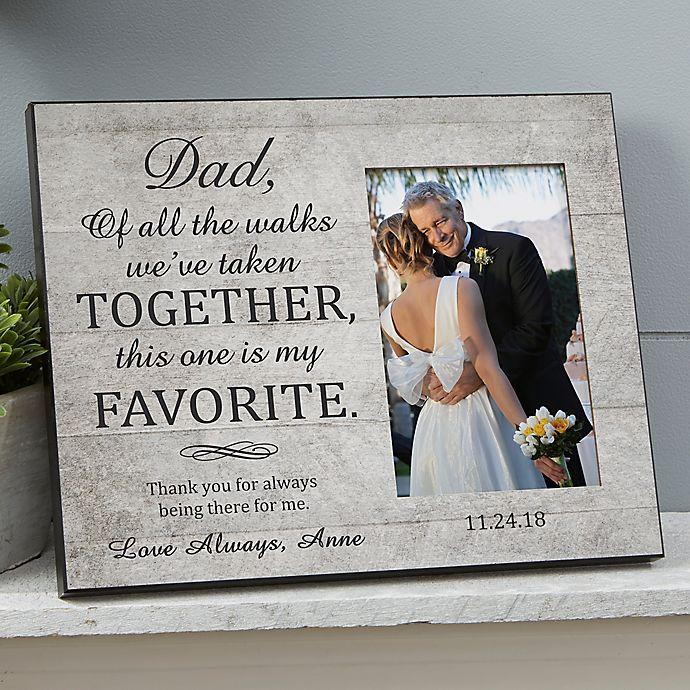 Alternate image 1 for My Favorite Walk Wedding Picture Frame