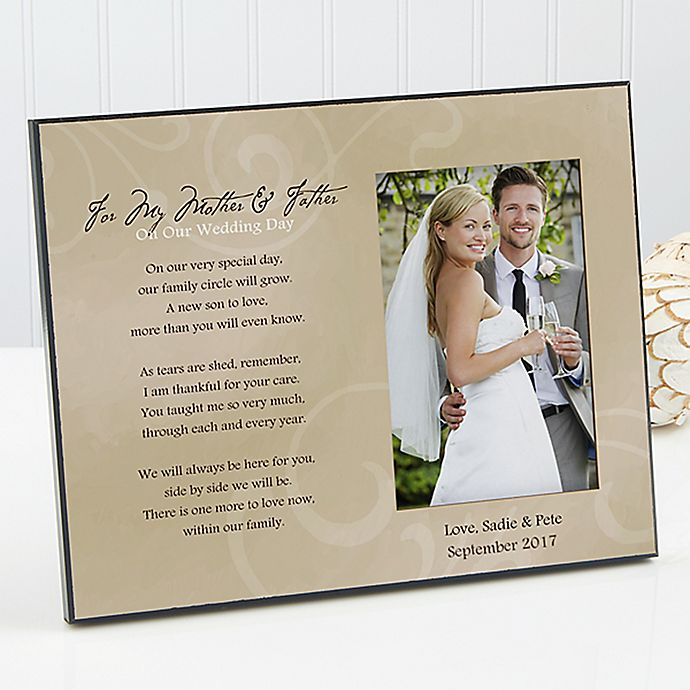 To My Parents Wedding Photo Frame Bed Bath Beyond