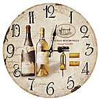 Chateau Beychevelle Winery Wall Clock in Tan