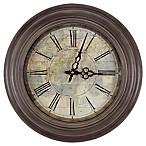 Yosemite Home Décor Le Carte 17-Inch Wall Clock in Distressed Black