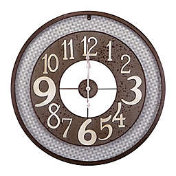 Hodge Podge Wire Wall Clock in Bronze
