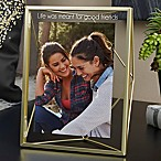 Umbra® Prisma Engraved Photo Display Frame in Gold