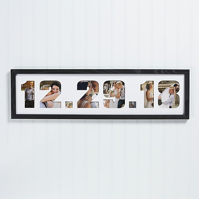 Alternate image 1 for Wedding Date Photo Collage Picture Frame