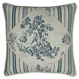 Austin Horn Classics Cosmopolitan Striped Square Throw Pillow in Blue