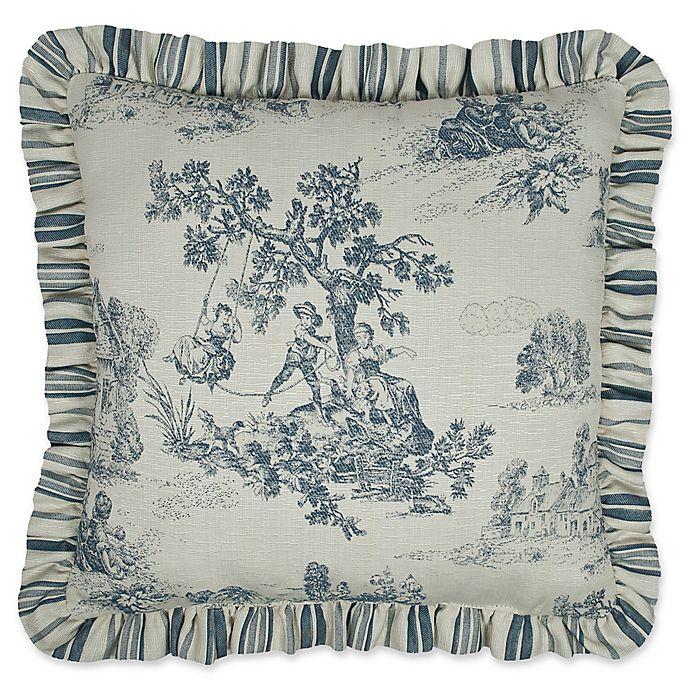Alternate image 1 for Austin Horn Classics Cosmopolitan Reversible Square Throw Pillow in Blue