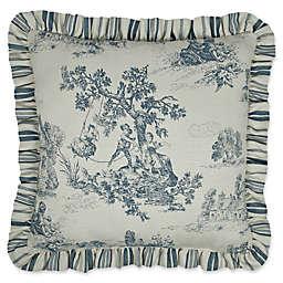 Austin Horn Classics Cosmopolitan Reversible Square Throw Pillow in Blue