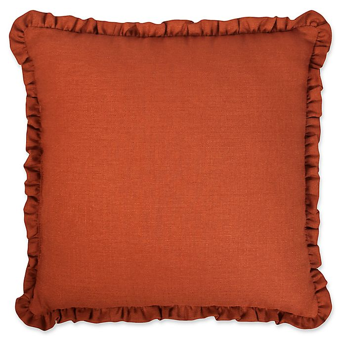 Alternate image 1 for Austin Horn Classics Paradise Peacock 18-Inch Square Throw Pillow in Brown/Coral