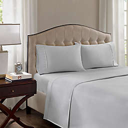 Madison Park 1500-Thread-Count Standard/Queen Pillowcase in Grey