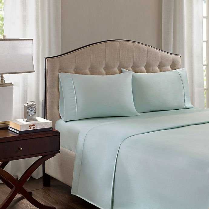 Alternate image 1 for Madison Park 1500-Thread-Count Standard Pillowcase in Seafoam