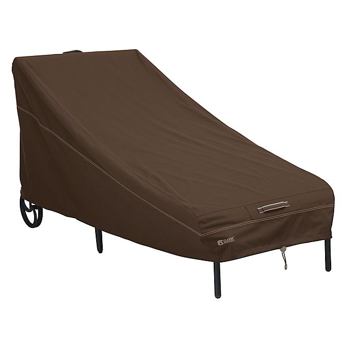 Alternate image 1 for Classic Accessories® Madrona RainProof Patio Chaise Lounge Chair Cover in Dark Cocoa