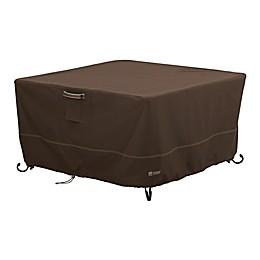 Classic Accessories® Madrona RainProof Medium Square Fire Pit Table Cover in Dark Cocoa