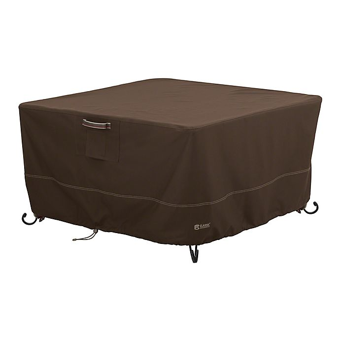Alternate image 1 for Classic Accessories® Madrona RainProof Medium Square Fire Pit Table Cover in Dark Cocoa