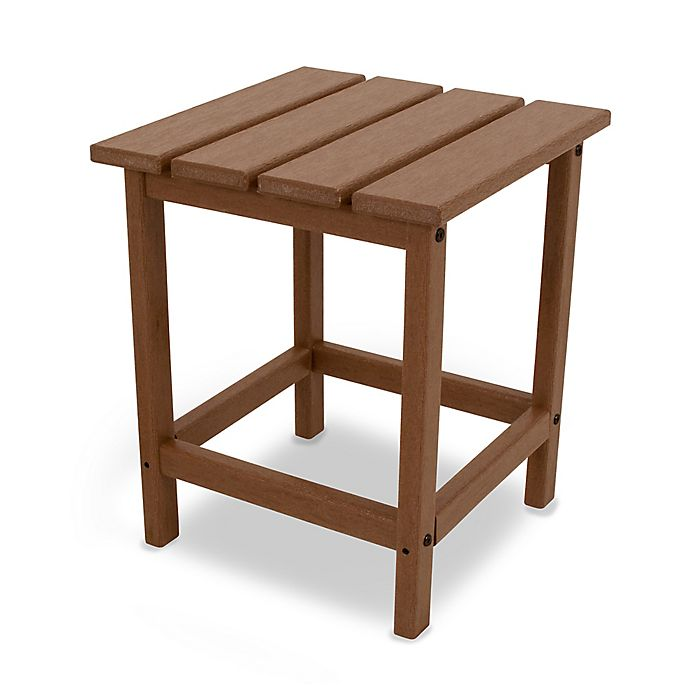 Alternate image 1 for POLYWOOD® Long Island 18-Inch Side Table in Teak