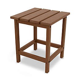 POLYWOOD® Long Island 18-Inch Side Table in Teak