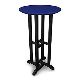 POLYWOOD® Contempo 24-Inch Round Patio Bar Table