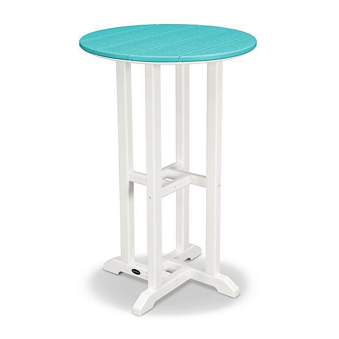 Alternate image 1 for POLYWOOD® Contempo 24-Inch Round Counter Table in White/Aruba
