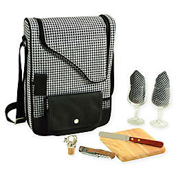 Picnic at Ascot Bordeaux 9-Piece Wine & Cheese Tote with Glasses Set
