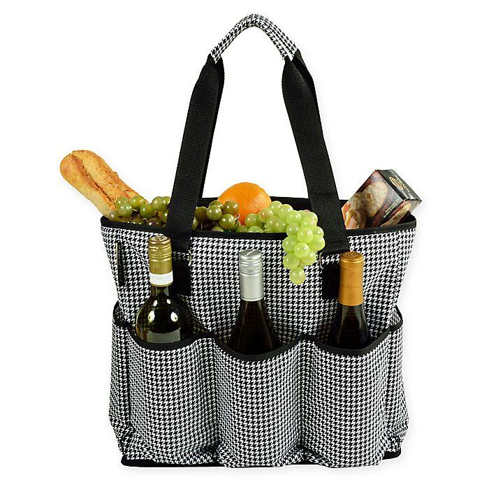 Alternate image 1 for Picnic at Ascot Extra Large Multi-Pocket Cooler Travel Bag in Black/White