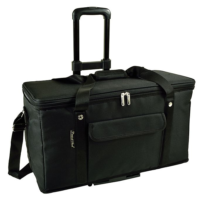 Alternate image 1 for Picnic At Ascot 36 -Quart Trunk Cooler in Black with Wheels