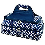 Picnic At Ascot Two Layer Hot/Cold Thermal Casserole Carrier in Blue/White