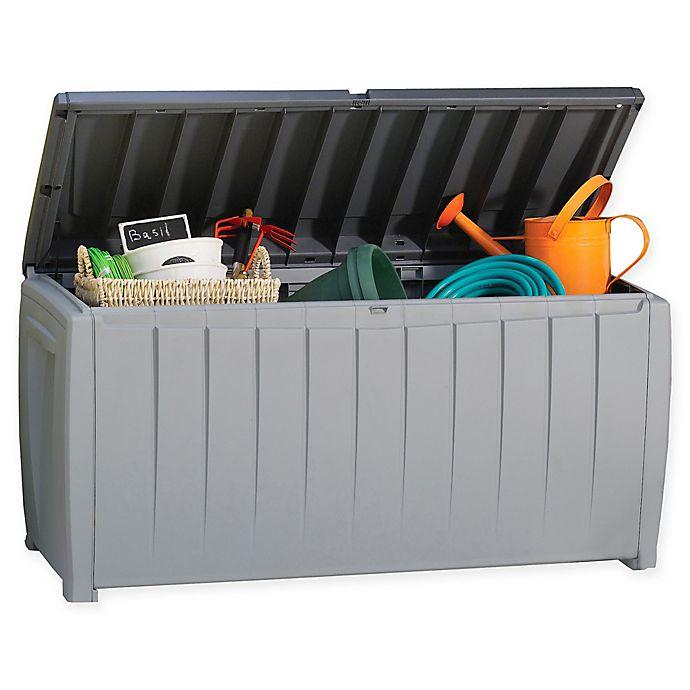 Alternate image 1 for Keter Novel 90-Gallon Plastick Storage Deck Box