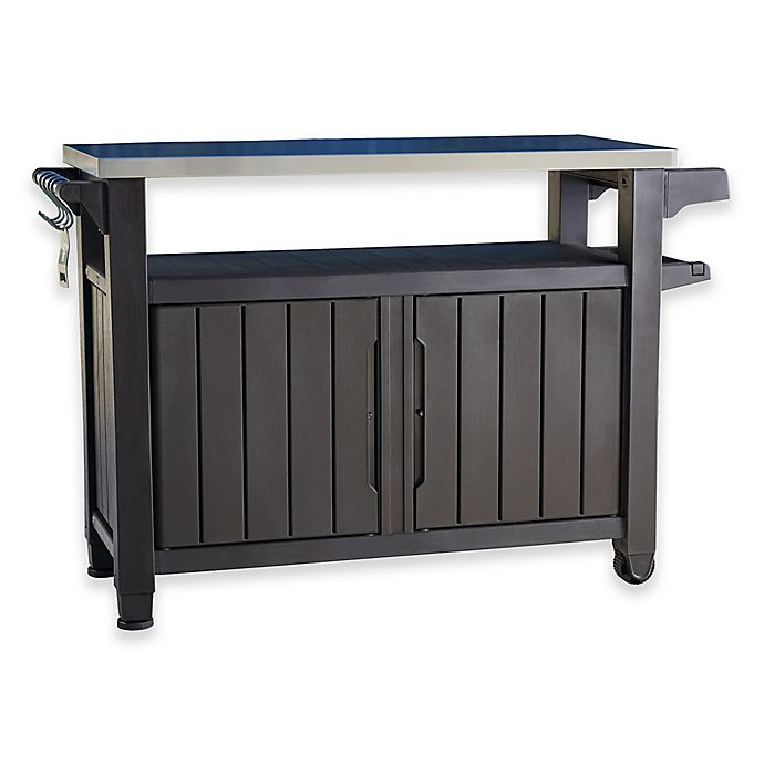 Keter Unity All Weather Outdoor Bbq Entertainment Storage Station Bed Bath Amp Beyond