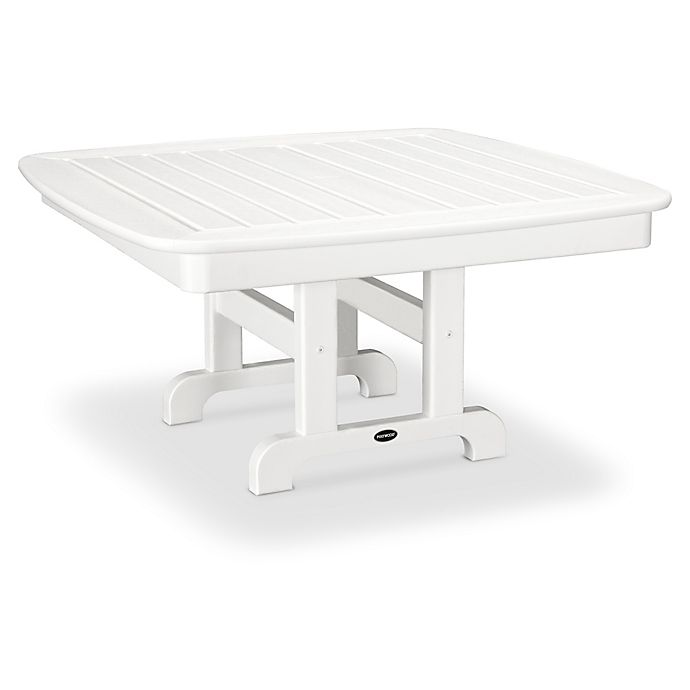 Alternate image 1 for POLYWOOD® Nautical 37-Inch Square Conversation Table in White