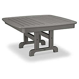 POLYWOOD® Nautical 37-Inch Square Conversation Table in Slate Grey