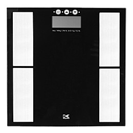 Kalorik Digital Body Analysis Glass Bathroom Scale in Black