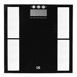 Kalorik Digital Body Analysis Glass Bathroom Scale in Black