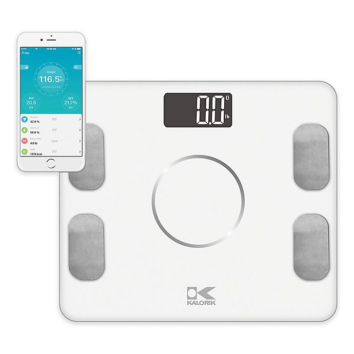 Alternate image 1 for Kalorik Electronic Body Fat Scale with Body Analysis in White