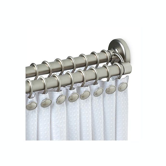 Zenith Satin Nickel Double Tension Shower Curtain Rod Bed Bath