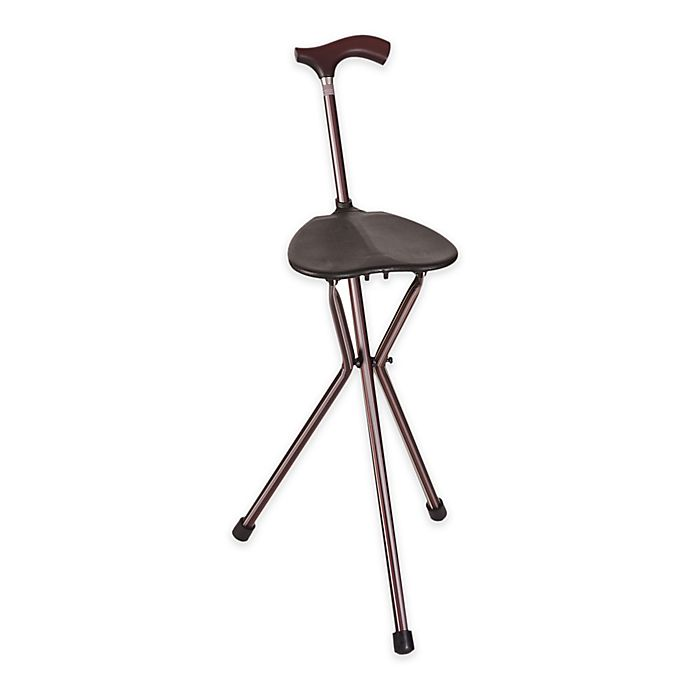 Alternate image 1 for 34-Inch Folding Walking Cane and Seat