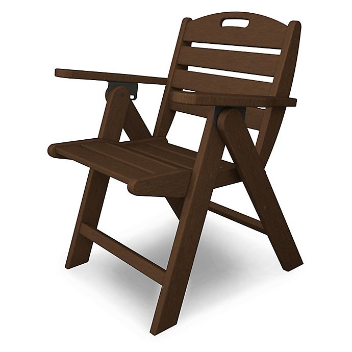 Alternate image 1 for POLYWOOD® Nautical Lowback Folding Chair in Mahogany