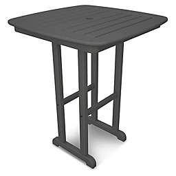 POLYWOOD® Nautical 31-Inch Square Counter Table in Slate Grey