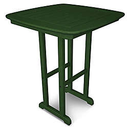 POLYWOOD® Nautical 31-Inch Square Counter Table in Green