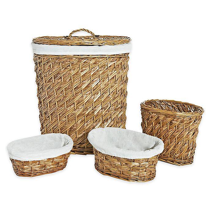 Alternate image 1 for LaMont Home Hudson 4-Piece Hamper Basket Set in Natural