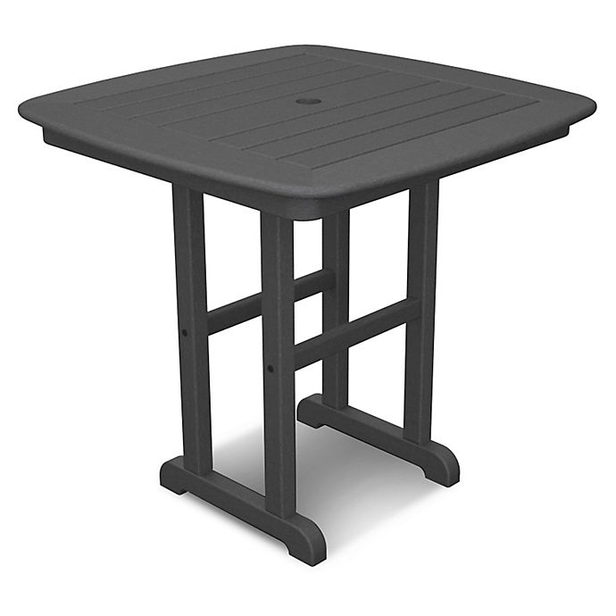 Alternate image 1 for POLYWOOD® Nautical 31-Inch Square Dining Table in Slate Grey