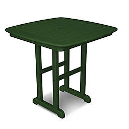 POLYWOOD® Nautical 31-Inch Square Dining Table in Green