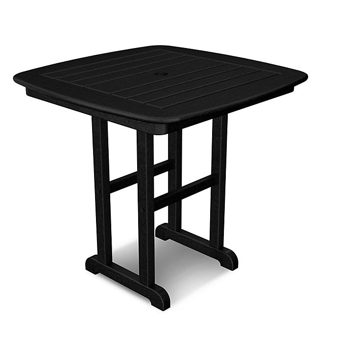 Alternate image 1 for POLYWOOD® Nautical 31-Inch Square Dining Table in  Black